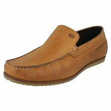 Base London 'Waiting' Gents Tan Leather Slip On Loafer Shoes
