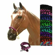 Showman Braided Nylon Wax Covered ROPE Noseband with Nylon Braided TIE DOWN