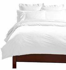1000TC Egyptian cotton Duvet cover Set+ Fitted sheet White solid King/Superking