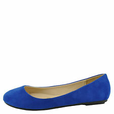 Bamboo Standouts 30 Blue Women's Round Toe Ballet Flats