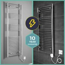 Bathroom Chrome Electric Ladder Heated Towel Rail Warmer Thermostatic Radiator