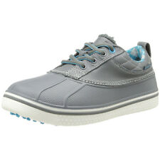 Crocs Women's Allcast Duck Golf Shoes - Charcoal/Blue