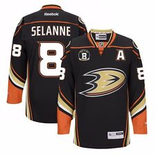 2014-15 Teemu Selanne Anaheim Ducks NHL Premier Home Jersey w/ Retirement Patch