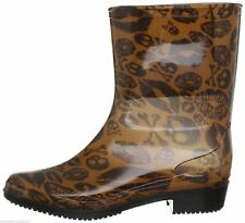 IRON FIST LADIES KISS OF DEATH CROPPED RAINBOOT NATURAL BROWN SIZE - 3 TO 9