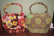 Vera Bradley BUTTERCUP or SITTIN IN A TREE Large Shoulder Purse ANGLE TOTE - NWT