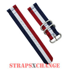 PREMIUM ZULU® 2 Piece PATRIOT Military Divers watch strap band Nylon 3 Ring