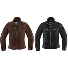 Icon 1000 Womens Fairlady Motorcycle Leather Jacket - Choose Size & Color