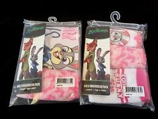 Set Of 5 Disney Zootopia Kids Girls Underwear Briefs Singlet Socks New