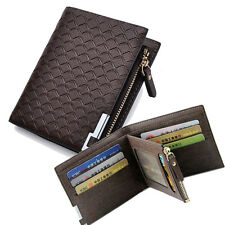Men's Baellery brand sleek luxury faux leather cash coin credit cards ID wallets