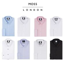 Moss London Mens Formal Shirts Extra Slim Fit Long Sleeve Single or Double Cuff