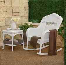 Wicker Rocking Chair Outdoor Porch Furniture Rocker Seat Garden Deck Resin Patio