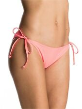 Roxy Neon Grapefruit Mix Adventure - Tie Side Scooter Womens Bikini Bottom