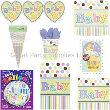 Baby Shower Tiny Bundle Boy/Girl Party Supplies - Plates, cups etc - Free P&P