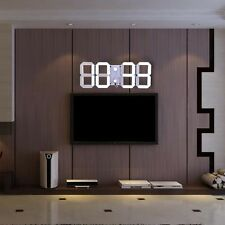 3D Large Remote Led Digital Wall Clock Alarm Watch Timer Countdown Thermometer