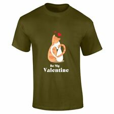Cats Be My Valentines Designer Mens Top Love Present Summer Printed Lot T Shirt