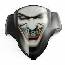 Airbrushed Joker Jester Windscreen Windshield For Kawasaki Fairing motorcycle