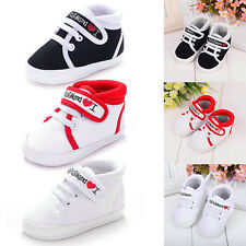 Newborn Infant Boys Girls Sneakers Toddler Baby Kids Soft Sole Crib Shoes 0-18M