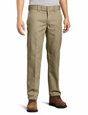 Dickies Men's Slim Straight Fit Work Pant, Washed Maple, 32X32  607645601434