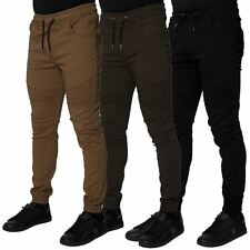 Loyalty & Faith Mens Casual Chinos Elasticated Cuffed Trousers Slim Fit Pants