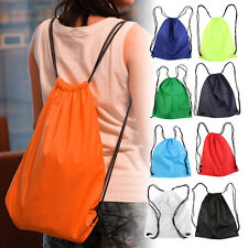 Premium School Drawstring Duffle Bag Sport Gym Swim Dance Shoe Backpack LOT LJ