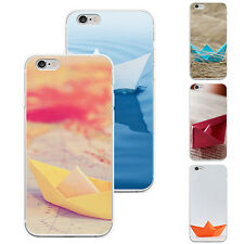 New Fashion Paper Boat Design Protective Phone Case for iPhone 4 Samsung Peachy
