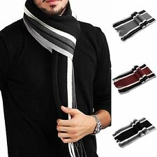 Male Echarpe Warm Winter Striped Scarfs Fringed Mufflers Tassel Scarf Scarfs
