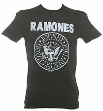Official Men's Classic Charcoal Ramones Logo T-Shirt from Amplified