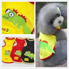 Dog Cat T Shirt Pet Vest Puppy Summer Clothes Outfit Apparel Costume Cute lizard