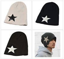Men Women Hip Hop Star Print Woolen Crochet Knitted Cap Hat Gorras Beanie Bonnet