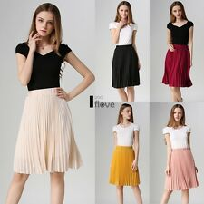 Ladies Womens Chiffon All Over Nieve Pleated Woven Casual Midi Skirt UK ILOE