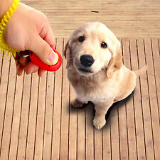 Dog Pet Click Clicker Training Obedience Agility Trainer Aid Wrist Strap #8