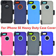 For Apple iPhone SE Full Protection Case Cover w/ Clip fits Otterbox Defender