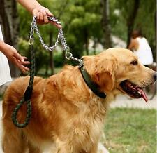 Large Dog Braided Rope Lead Useful Anti-Bite Leashes Collar Traction Dogs Chain