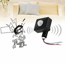 Black 12M PIR12V/PIR85-265V Security PIR Infrared Motion Sensor Detector LE