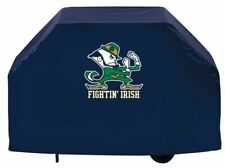 Notre Dame Grill Cover with Fighting Irish Leprechaun Logo