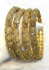 New Indian Bollywood 14k Gold Plated Bangles Bracelet Kada Set Fashion Jewelry
