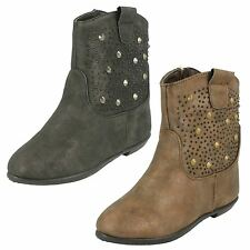 Girls Spot On Flat Ankle Boots