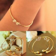 Row Full Bracelet Rhinestone Bangles Bracelet Gold Plated For Ladies Jewelry