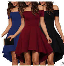 Women Sexy Off Shoulder Short Sleeve Dress Evening Party Cocktail Clubwear Dress