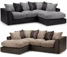 Dylan Corner Group Sofa Right and Left ,Brown & beige black& grey
