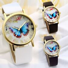 Hot Sale Cute Lovely Pure Bowknot PU Leather Strap Analog Wrist watch Gift