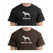 Dalmatian Silhouette T-Shirt, Men Women Youth Long Personalized custom dog
