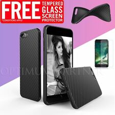 Original Ultra thin Slim Silicone Soft Case Tempered Glass Cover For iPhone 6s 7