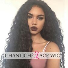 100 Human Hair Lace Front Curly Wigs Indian Remy Full Lace Wig For Black Women