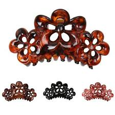 Women Vintage Flower Hair Clip Larger Hair Claw Clip Clamp Plastic Accessories