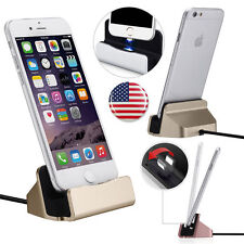 USB Sync Data Desktop Charging Dock Stand Charger For Apple iPhone 7 plus 6s USA