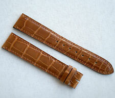 Authentic Cartier Crocodile /Alligator Leather Brown Watch Strap Band 19mm