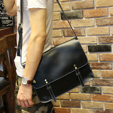Men's Fashion Black Messenger Shoulder Bag Crossbody Sling School Bags Satchel