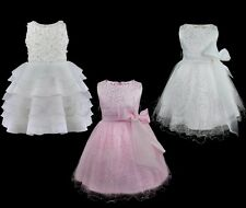 Flower Girl Princess Sequinned Pageant Wedding Bridesmaid Christening Tutu Dress