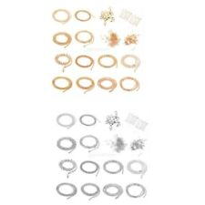 Beads Head Pins Chain Jewelry Making DIY Starter Kit Chains Clasp Snap Rings Set